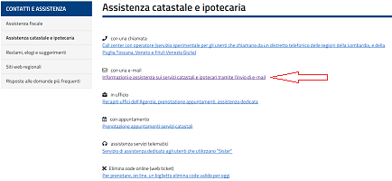 Assistenza con invio e-mail